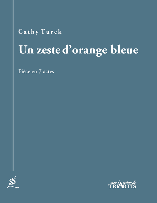 Un zeste d'orange bleue